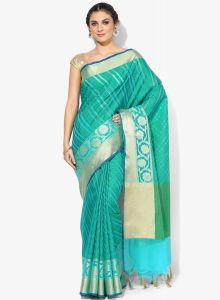 Multicolor Cotton Silk Woven Banarasi Saree
