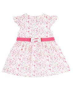 Infant Girls Multicoloured Floral Print Fit and Flare Dress