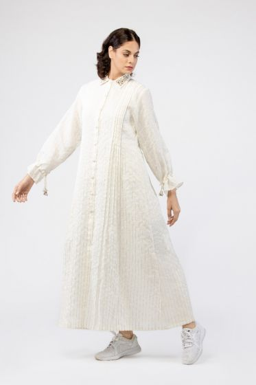 Rhea Embroidered Collar Abaya