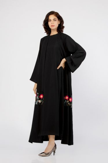 Iris Embroidered Abaya with Shyla