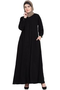 Nazneen Hidden Placket front open casual Abaya