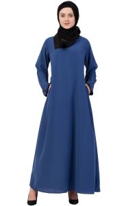 Nazneen Contrast Piping at Sleeve Casual Abaya