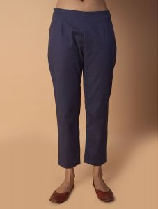 Pinksky Navy Cotton Pants For Women