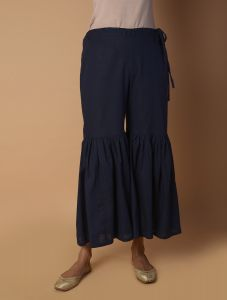 Pinksky Navy Cotton Sharara For Women