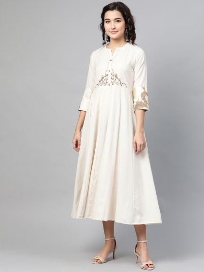 Pinksky Designer Embroidery Cotton Dresses For Women