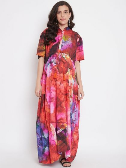 Red Cosmos Maternity Dress