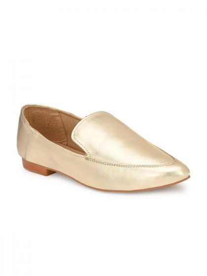 Zebba Women Gold Casual Shoes