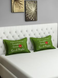 Swayam Good Night Graffiti Green Pillow