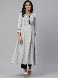 Designer Cotton Kurta With Pant Set For Women