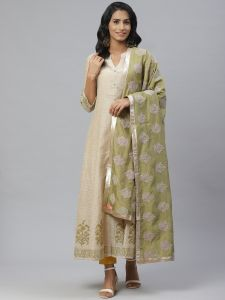 Designer Kurta With Silk Dupatta Set For Women
