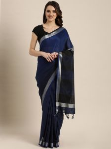 Pure Classic Shaded Angolla Linen Saree