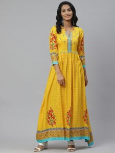 Designer Printed Kurta With Cotton Pant Set For Women