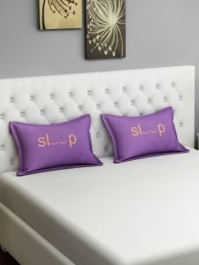 Swayam Sleep Graffiti Purple Pillow