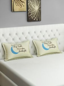 Swayam Sweet Dreams Graffiti Cream Pillow