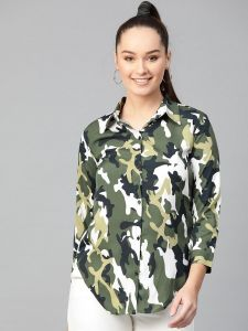 Zima Leto  Women's Military Shirt Top