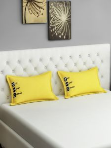 Swayam Eat Sleep Repeat Graffiti Yellow Pillow