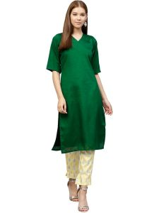 Straight Poly Silk Kurta