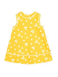 Infant Girls Yellow Floral Printed A-Line Dress