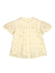Infants Yellow Printed A-Line Top