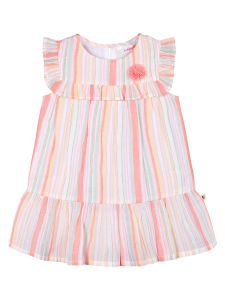 Girls Multicoloured Striped A-Line Dress