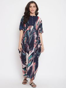 Splashy Marble Maternity and Nursing Dress