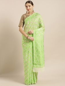 Trendy Jamdani Cotton Silk Saree
