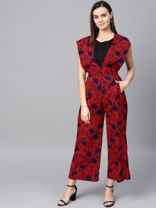 Zima Leto Women's Floral Printed Jumpsuit