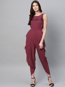 Zima Leto Women's Embroidered Cowl Jumpsuit
