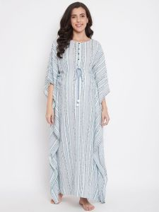 Dobby Stripes Handloom Cotton Kaftan