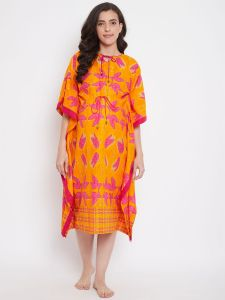 Orange Bliss Maternity Kaftan
