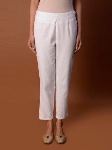 Pinksky Designer White Flex Pant For Women
