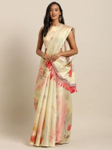 New Maheswari Silk Flower Digital Print Soft Silk Saree