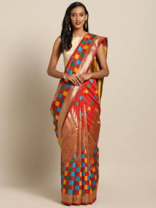 New Banarasi Kanjiwaram Temple With Multi Colour Box Soft Silk Saree