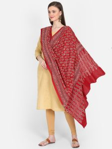 Cotton Hand Block Print Dupatta