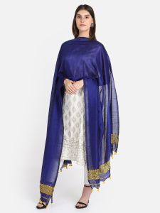 Woven Feather Work Dupatta