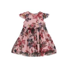 Girls Multicoloured Floral Printed Fit and Flare Dress