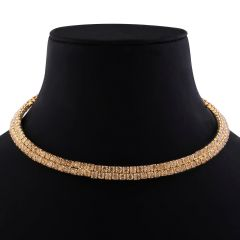 Gold Plated Diamond Studded partywear Necklace