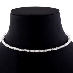Silver Plated Diamond Studded partywear Necklace